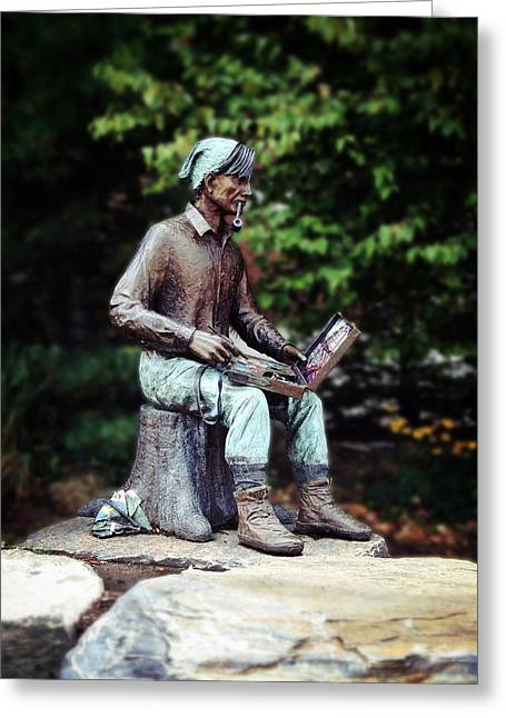 Famous Artist Greeting Cards - Tom Thomson Greeting Card by Natasha Marco