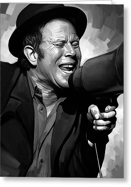 Wait Greeting Cards - Tom Waits Artwork  3 Greeting Card by Sheraz A