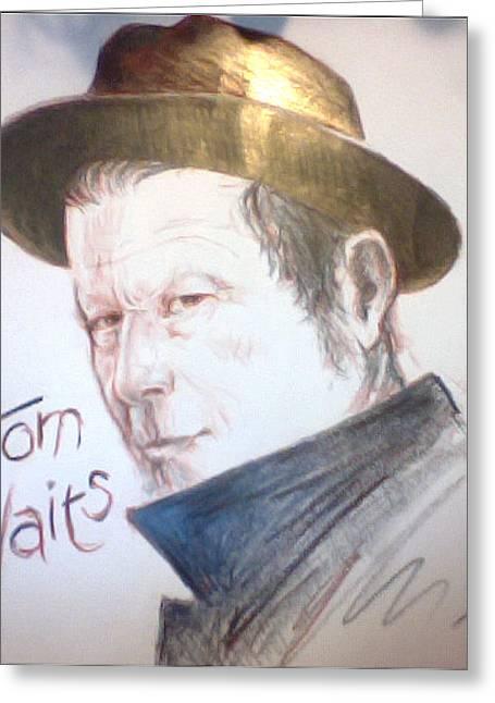 Sketchbook Digital Greeting Cards - Tom Waits Greeting Card by Mister Duke