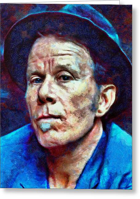 Lucent Dreaming Greeting Cards - Tom Waits Greeting Card by Nikola Durdevic
