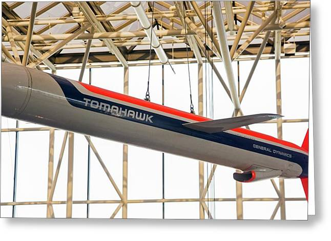 Tomahawk Cruise Missile In A Museum Greeting Card by Jim West