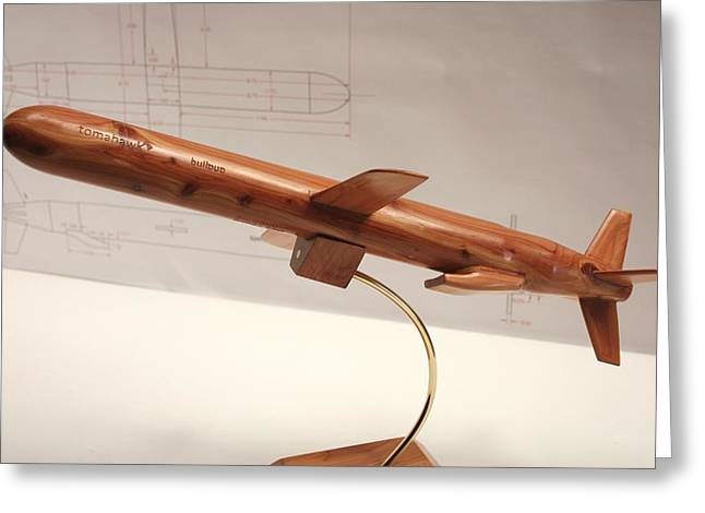 Tomahawk Sculptures Greeting Cards - Tomahawk Cruise Missile Greeting Card by Kevin Schrader