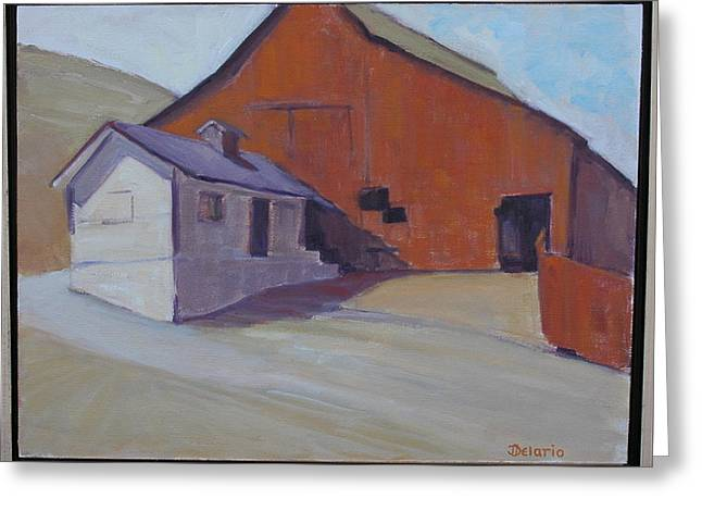 Pleinair Greeting Cards - Tomales Barn Greeting Card by Joyce Delario