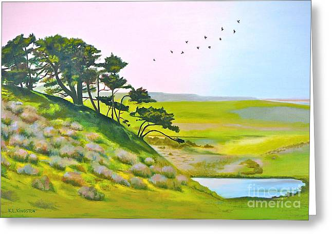 Kingston Paintings Greeting Cards - Tomales California Greeting Card by K L Kingston