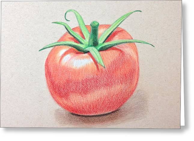 Tomato Drawings Greeting Cards - Tomato Greeting Card by Anuja K