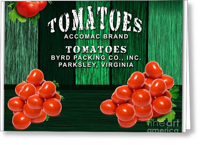 Tomato Farm Greeting Card by Marvin Blaine