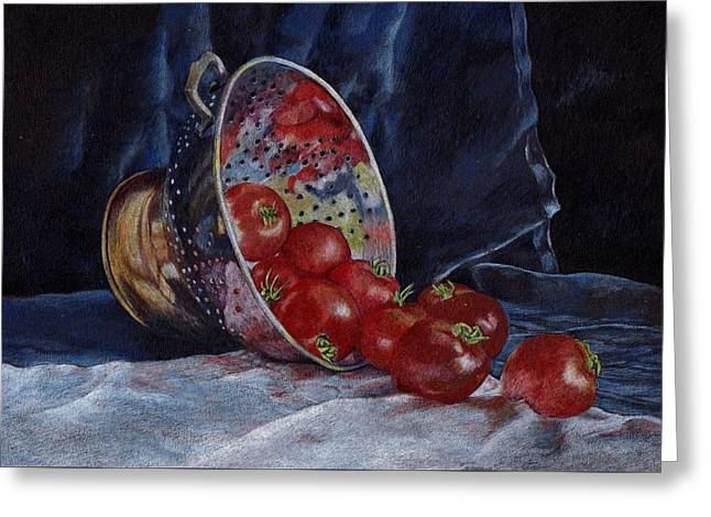 Tomato Drawings Greeting Cards - Tomato soup for tea Greeting Card by Liz  Lamb