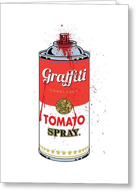 Arlington Mixed Media Greeting Cards - Tomato Spray Can Greeting Card by Gary Grayson