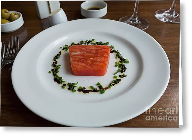 Balsamic Greeting Cards - Tomato Terrine Greeting Card by Louise Heusinkveld