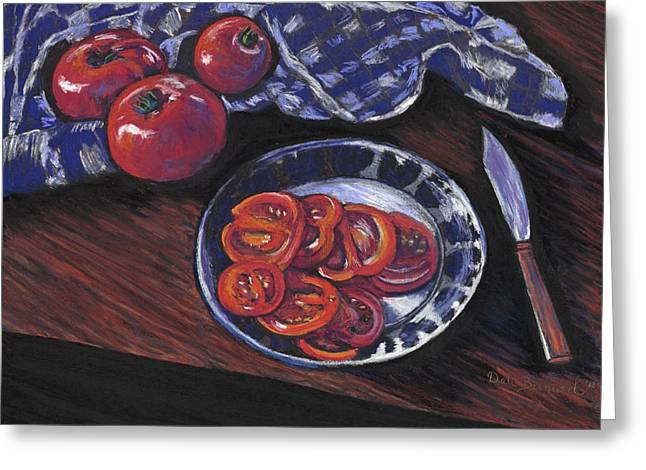 Tomato Pastels Greeting Cards - Tomatoes Greeting Card by Dale Bernard