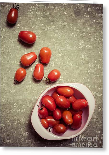 Garden Vegetables Greeting Cards - Tomatoes Greeting Card by Edward Fielding