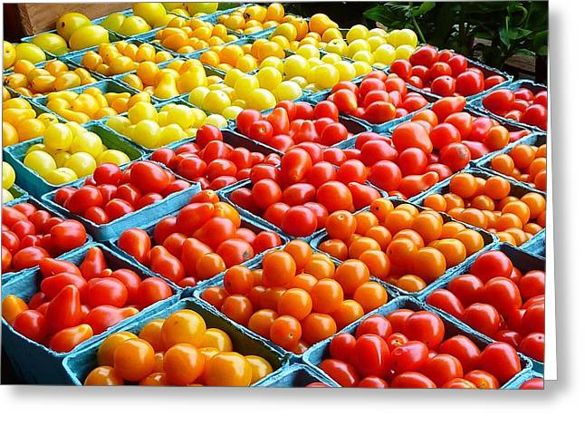 Farmstand Greeting Cards - Tomatoes for sale Greeting Card by Mike Ste Marie