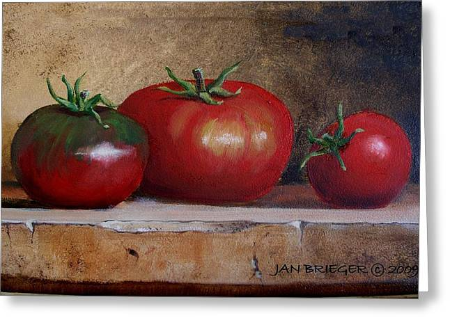 Tomatoes Greeting Card by Jan Brieger-Scranton