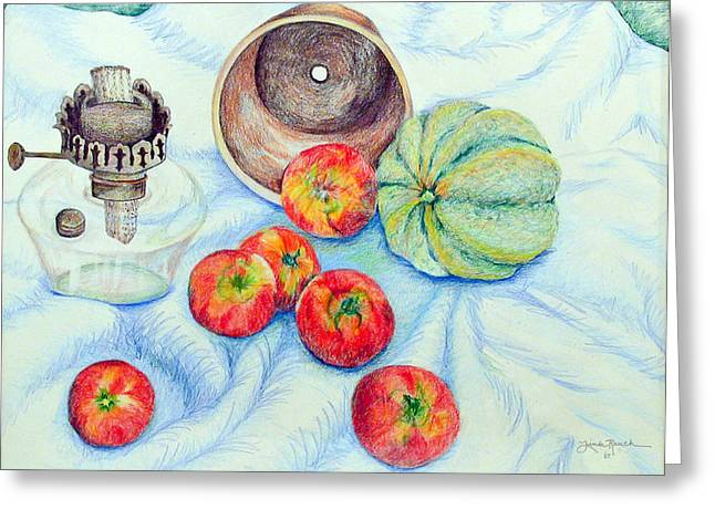 Tomato Drawings Greeting Cards - Tomatoes Greeting Card by Linda Rauch