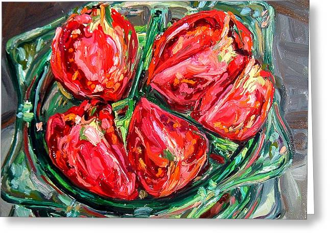 Dinner Party Invitation Greeting Cards - Tomatoes Greeting Card by Melissa Sarat
