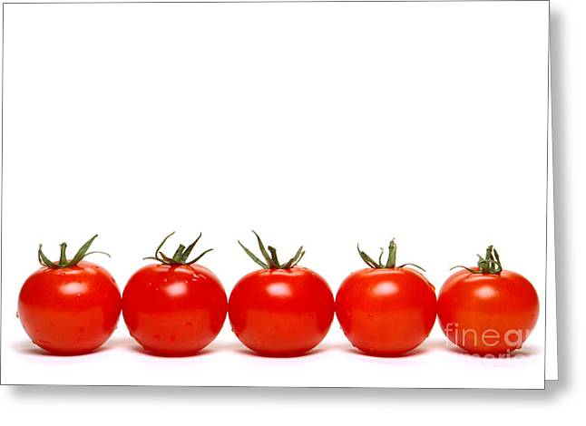 Tomatoes Greeting Card by Olivier Le Queinec