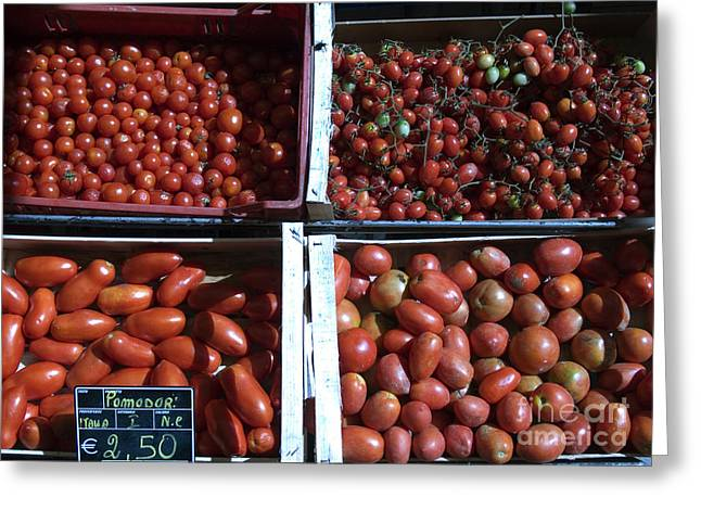 Fresh Food Greeting Cards - Tomatoes Greeting Card by Tim Holt