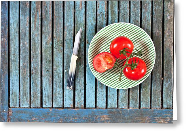 Edible Greeting Cards - Tomatoes Greeting Card by Tom Gowanlock