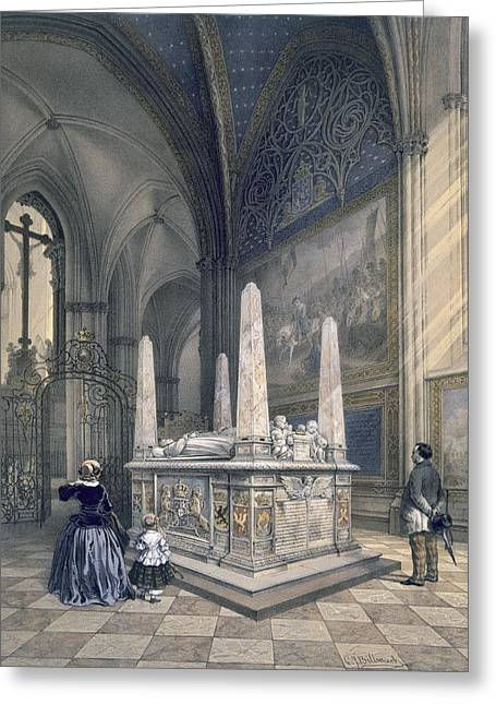 Ecclesiastical Architecture Greeting Cards - Tomb Of Gustav I In Uppsala Cathedral Greeting Card by Karl Johann Billmark