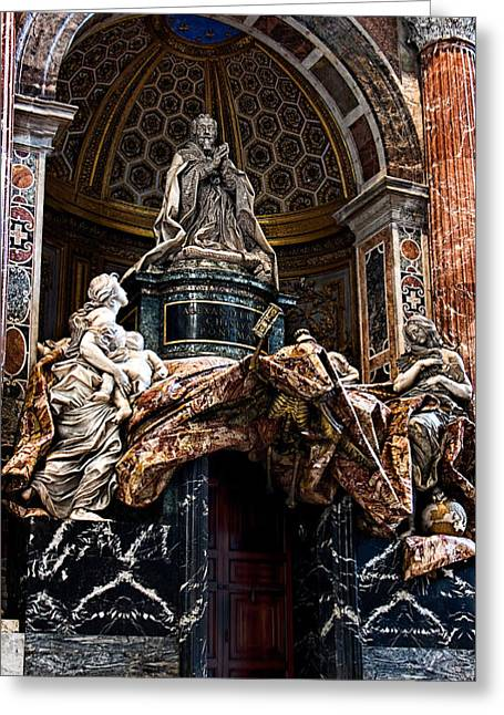 Tomb Of Pope Alexander Vii By Bernini Greeting Card by Weston Westmoreland