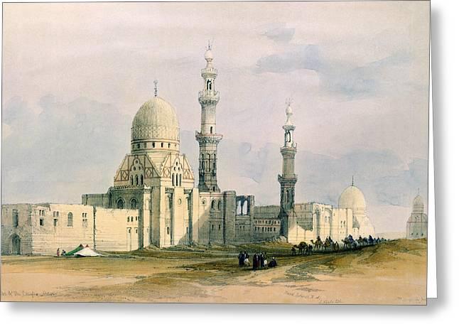 City Drawings Greeting Cards - Tomb Of Sultan Qansuh Abu Sa`id, 1499 Greeting Card by David Roberts