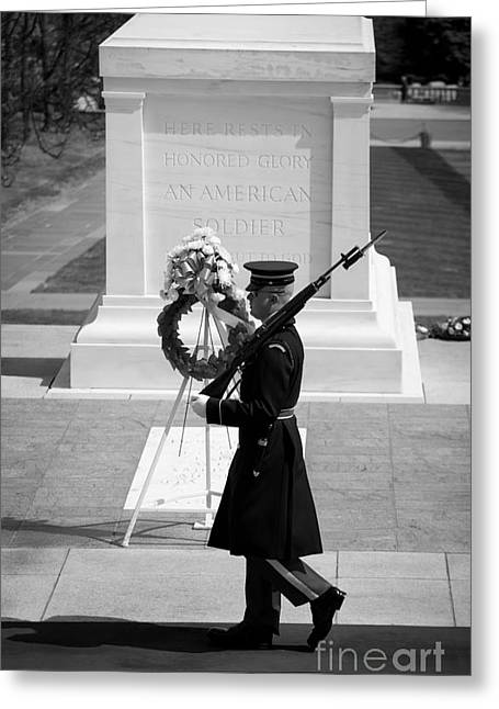 March Greeting Cards - Tomb of the Unknown Soldier Greeting Card by Inge Johnsson