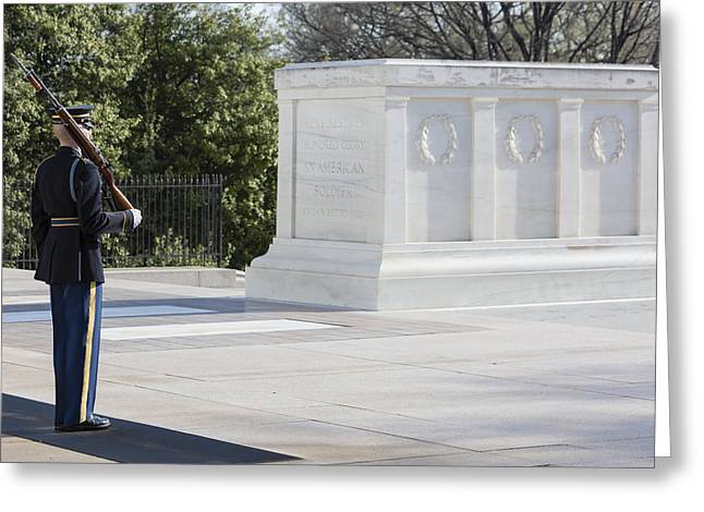 3rd Army Greeting Cards - Tomb Of The Unknown Soldier Greeting Card by Susan Candelario