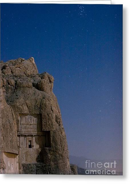 Xerxes Greeting Cards - Tomb Of Xerxes Greeting Card by Babak Tafreshi