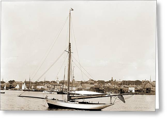 Tomboy, Tomboy Yacht, Harbors, Yachts Greeting Card by Litz Collection