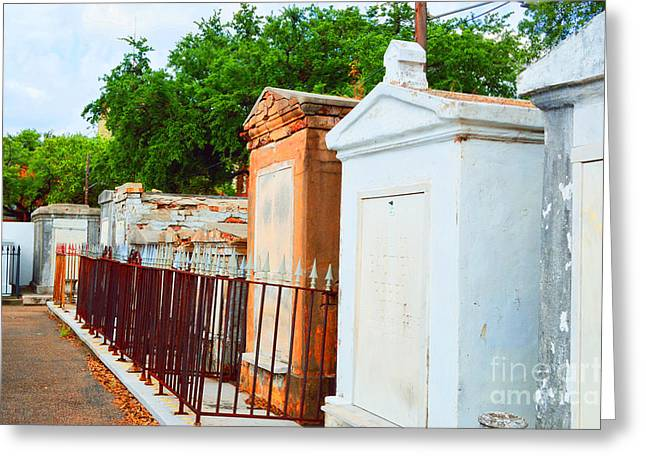 New Orleans Greeting Cards - Tombs at Dawn Greeting Card by Alys Caviness-Gober