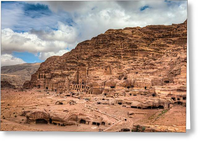 Tombs Of Petra Greeting Card by Alexey Stiop