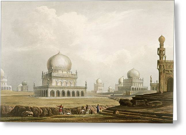 Dynasty Greeting Cards - Tombs Of The Kings Of Golconda In 1813 Greeting Card by Captain Robert M. Grindlay