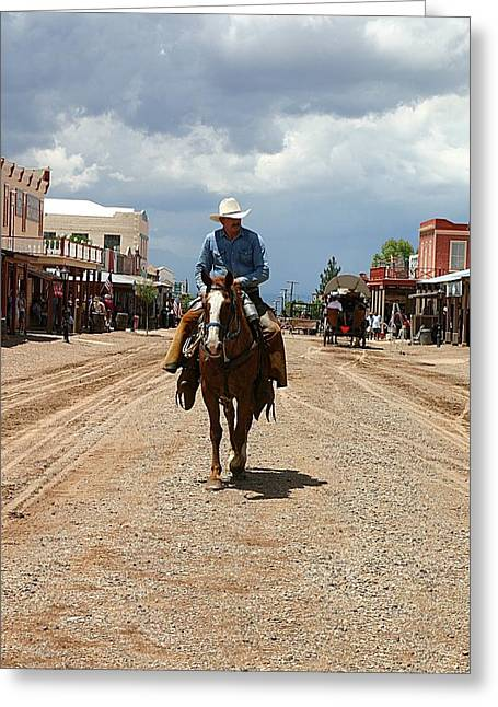 Arizona Cowboy Greeting Cards - Tombstone Arizona Territory Greeting Card by Joe Kozlowski