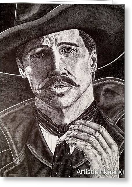 Tombstone Drawings Greeting Cards - Tombstone Greeting Card by Craig Gripentrog