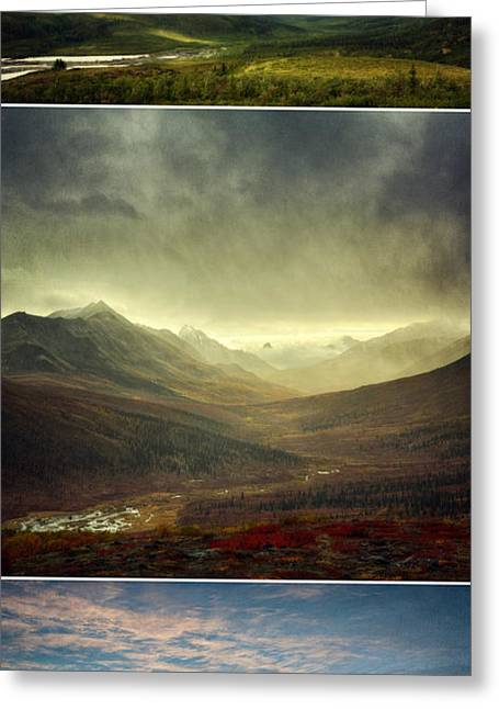 Summer Season Landscapes Greeting Cards - Tombstone Range Seasons vertical Greeting Card by Priska Wettstein