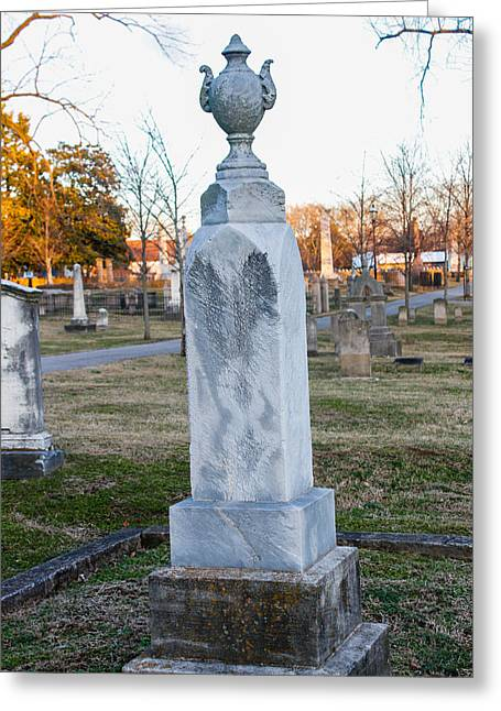 Final Resting Place Greeting Cards - Tombstone Greeting Card by Robert Hebert