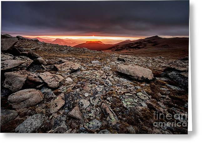Mountain Road Greeting Cards - Tombstone Sunrise Greeting Card by Steven Reed