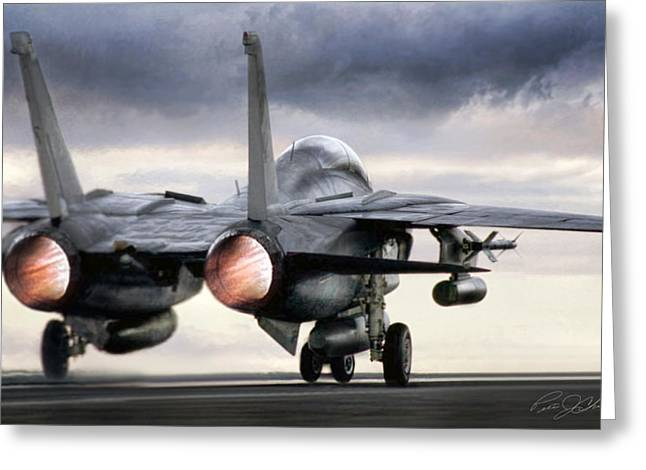 Squadron Greeting Cards - Tomcat Launch Greeting Card by Peter Chilelli
