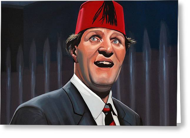 Theatres Greeting Cards - Tommy Cooper  Greeting Card by Paul Meijering