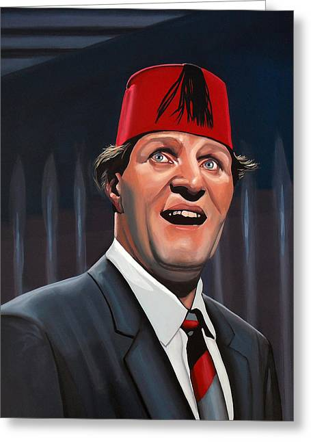 Comedian Greeting Cards - Tommy Cooper Greeting Card by Paul Meijering