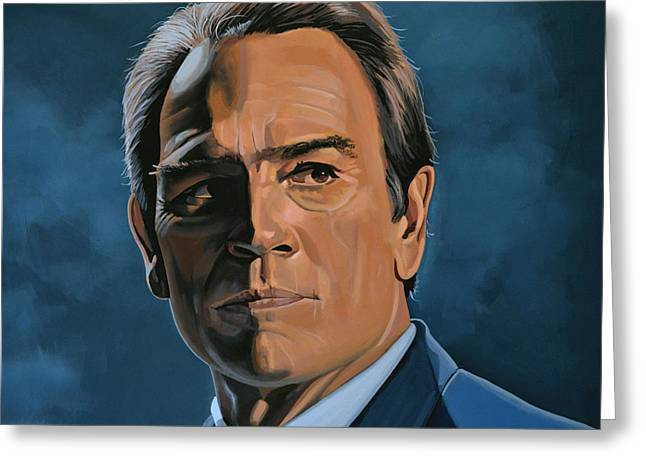 Old Face Greeting Cards - Tommy Lee Jones Greeting Card by Paul  Meijering