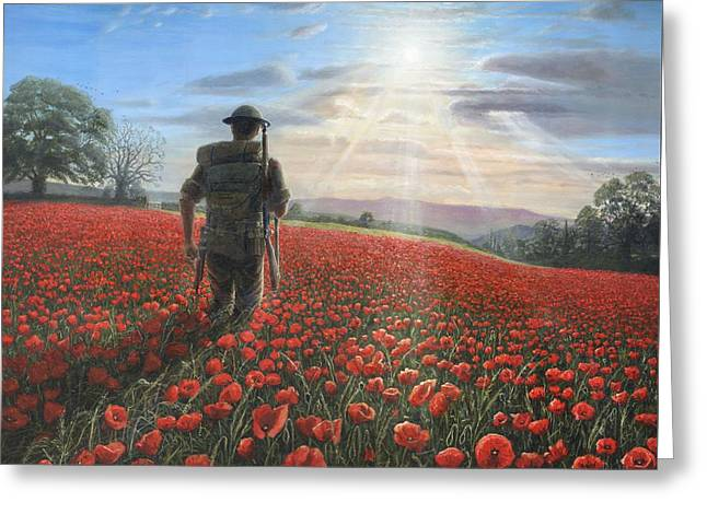 Soldiers Greeting Cards - Tommy Greeting Card by Richard Harpum