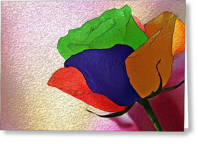 Abstract Style Greeting Cards - Tomorrows Flower Greeting Card by Manjot Singh Sachdeva