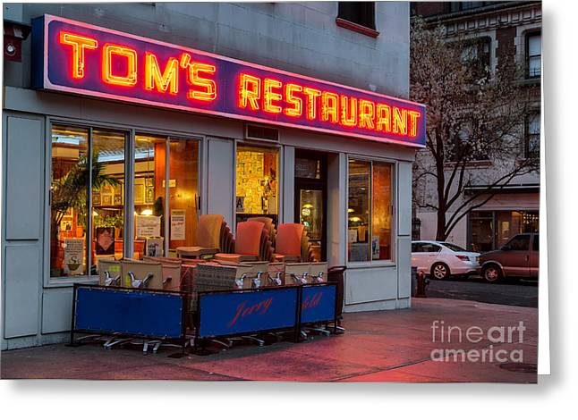 Morningside Heights Greeting Cards - Toms Restaurant Greeting Card by Jerry Fornarotto