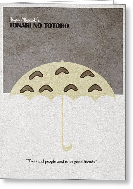 Gift Pastels Greeting Cards - Tonari no Totoro Greeting Card by Ayse Deniz