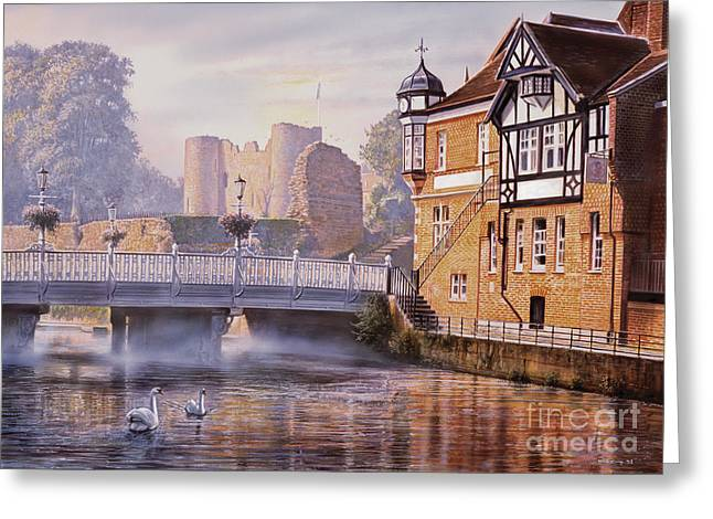 Crisp Greeting Cards - Tonbridge Castle Greeting Card by Steve Crisp
