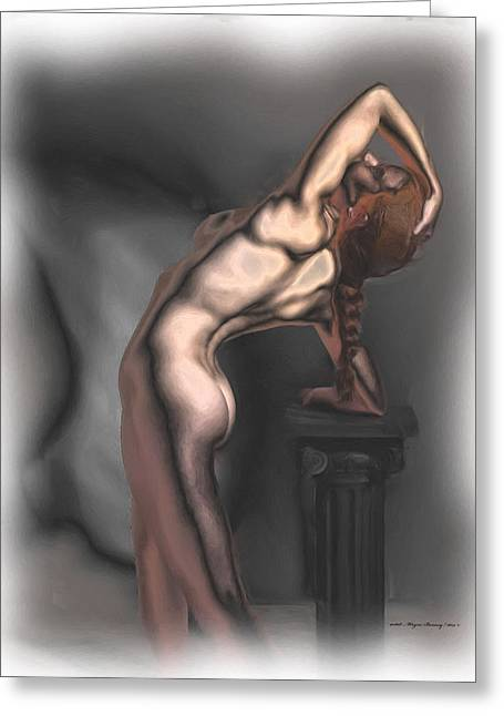 Toned Female Body Greeting Card by Wayne Bonney