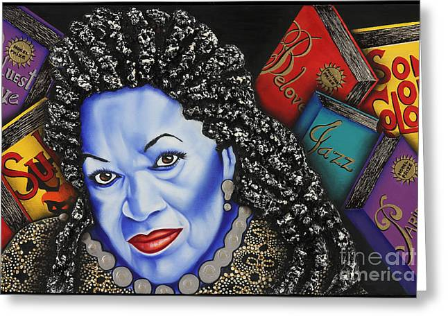 Nannette Harris Greeting Cards - Toni Morrison Greeting Card by Nannette Harris