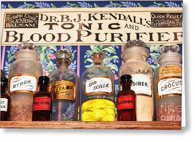 Liniment Greeting Cards - Tonic And Blood Purifier Greeting Card by Janice Rae Pariza