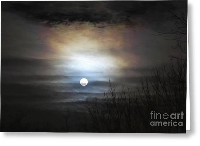 Douglas Stucky Greeting Cards - Tonights Moon Greeting Card by Douglas Stucky